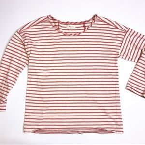Madewell Red Striped Chart Tee XS